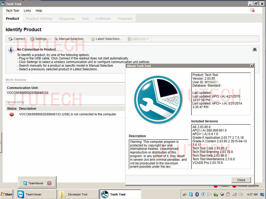 Professional FH Volvo Vocom Software PTT 2.03 Dev2tool Development Model