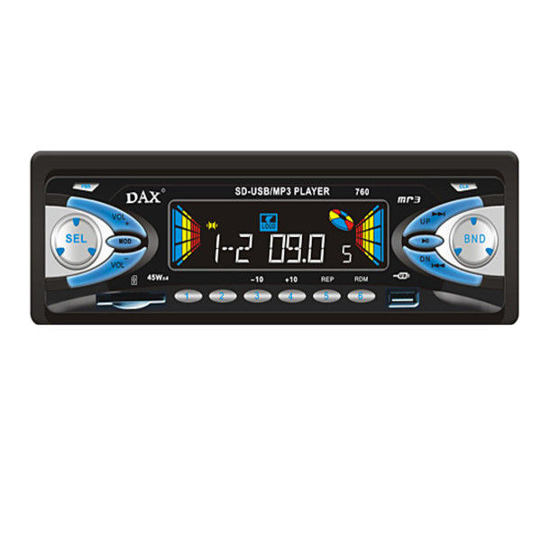 1 In Dash 1 Din Car Audio Player With Usb Port / Sd Card Reader / Radio / Mp3 Car Electronics Products