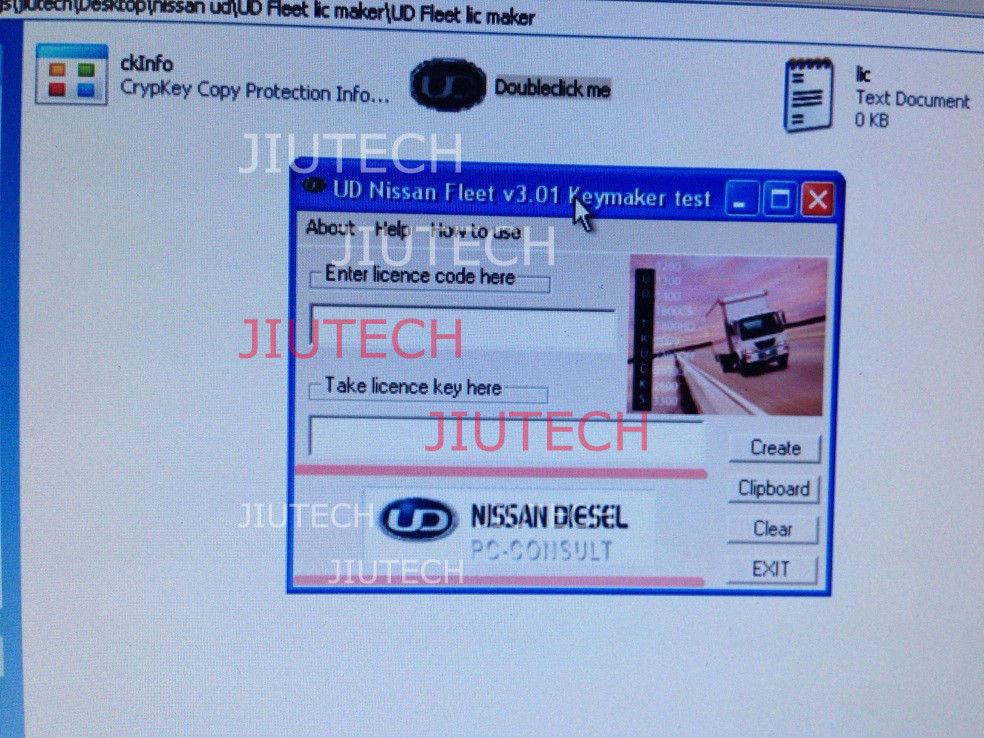 Nissan UD V3 01 Software Keygen for Nissan Truck Diagnostic