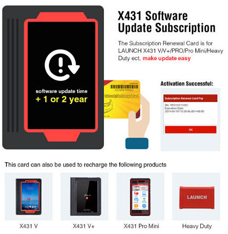 LAUNCH Official Store Pin card software up date card support X431 V/V+/PRO/Pro Mini/Heavy Duty ect in stock