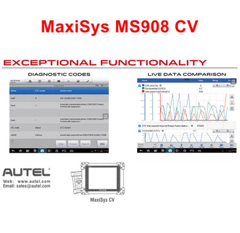 autel maxisys 908 cv diagnostic scanner full system ecu coding ms908
