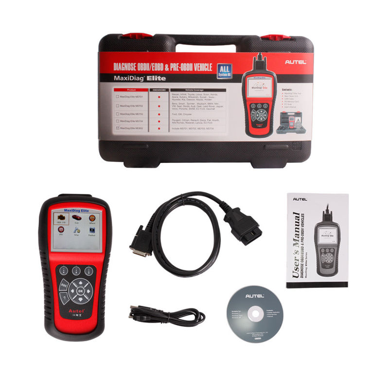 Autel Diagnostic Tools MaxiDiag Elite MD802 All System + DS Model