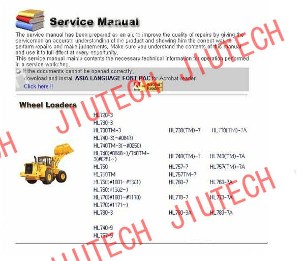 Auto Diagnostics Software Hyundai Heavy Service Manuals 2012 For Excfvators Crawler