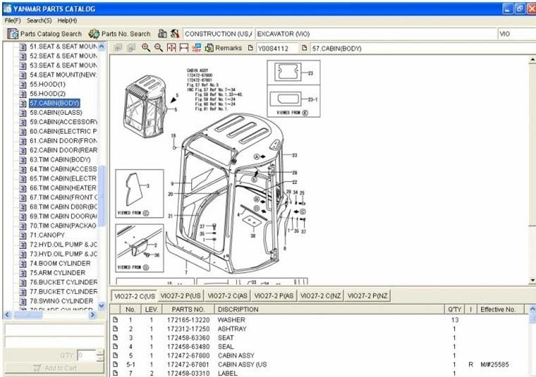 Auto Diagnostics Software Yanmar Spare Parts Catalog epc