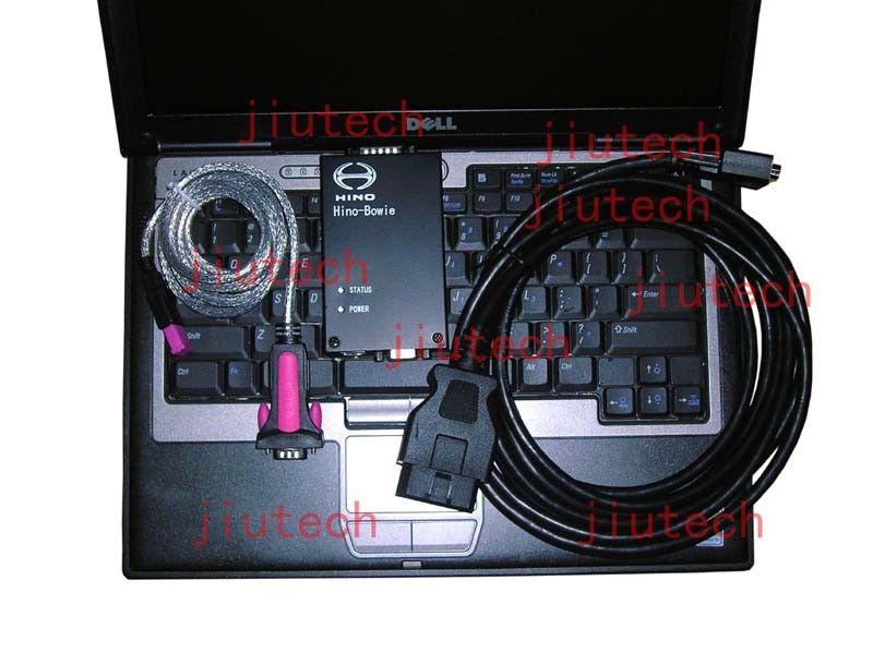 Full Set D630 laptop with HINO Diagnostic EXplorer, Hino-Bowie Truck Excavator Scanner