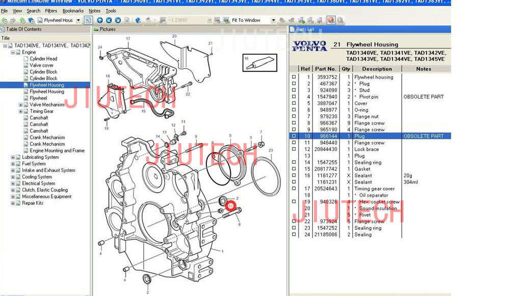 Volvo Penta 57 Gi Parts Diagram