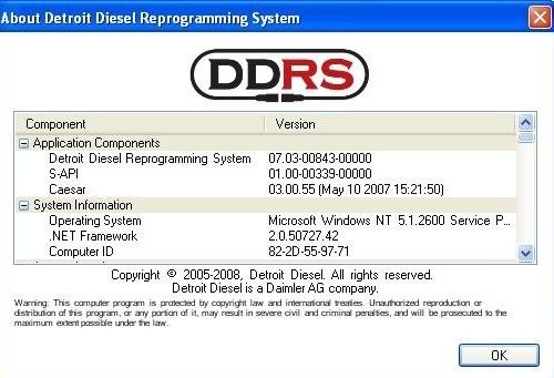 Auto Diagnostics software Detroit Diesel Reprograming System 7.07 USB Link translator box