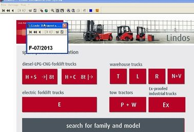Microsoft Support Forklift Diagnostic Tools For Linde , Parts Catalog EPC