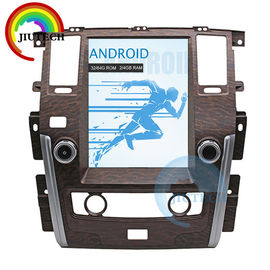 China Android Auto Gps Navigation For Car Nissan Patrol 2010+ 4gb Dsp Tesla Style Px6 Head Unit factory