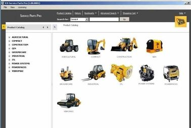 China Auto Diagnostics Software / Parts Catalog 2012 For Micro Excavator (JCB Pro 1.15 Version) factory