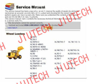 China Auto Diagnostics Software Hyundai Heavy Service Manuals 2012 For Excfvators Crawler factory