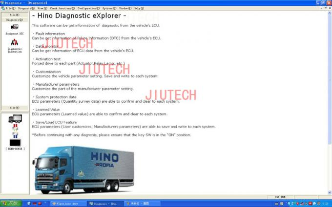 Hino Diagnostic Explorer V3.12 Software For Auto Diagnostic Tool