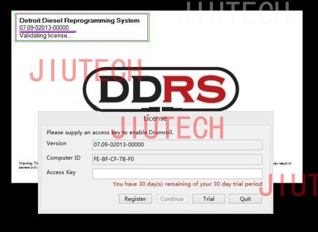 Detroit Diesel DDDL Diagnostic Software Pro Link