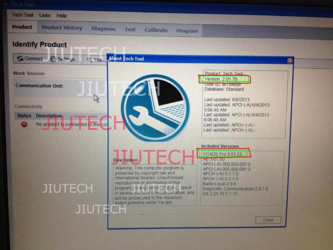 CF29 Laptop With 2013 PTT 2.01 Volvo vocom Vcads Pro 3.01 Software