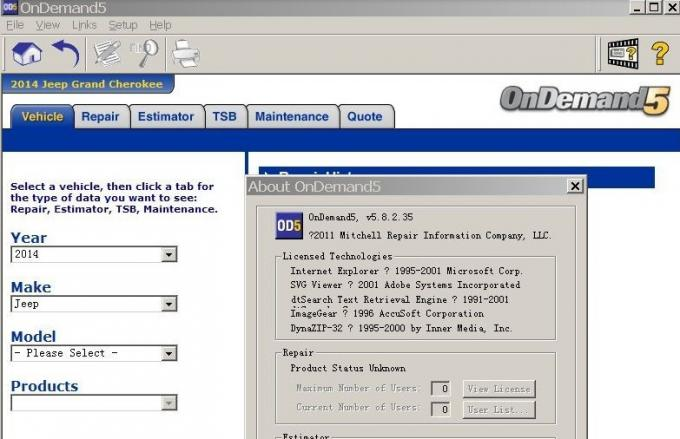 Auto Diagnostics Software 2014Version Mitchell Ondemand 5