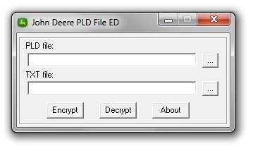 High Speed John Deere Scanner Pld File Encryptor / Decryptor Editor