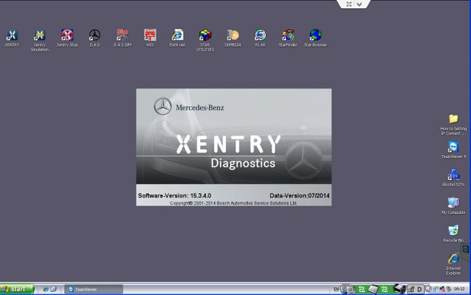 Benz MB Star C4 (2014/07) with Dell D630 Laptop Mercedes Star Diagnosis Tool
