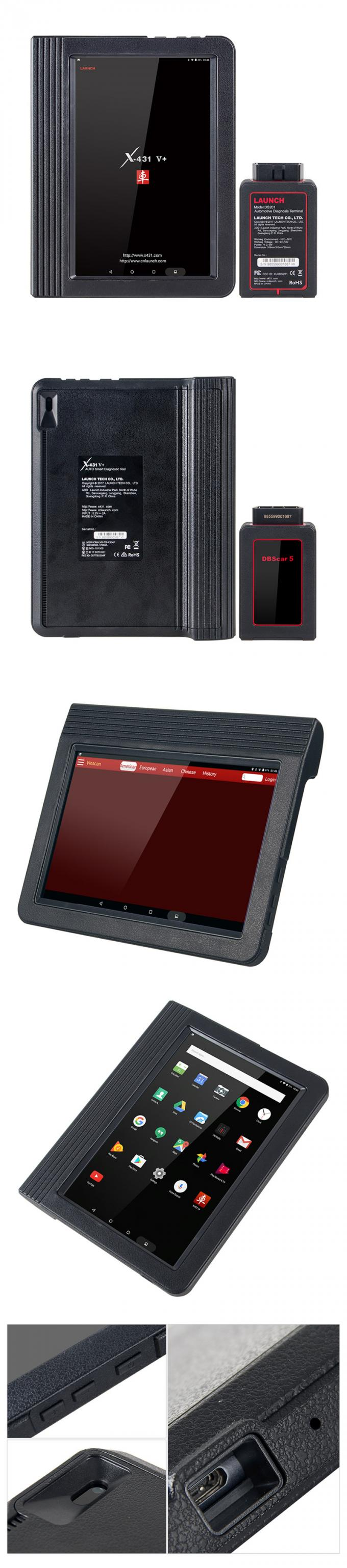 LAUNCH Official auto Scanner X431 V+ full system diagnostic tool X-431 V+ Scanner Support Wifi Bluetooth with 2 year fre