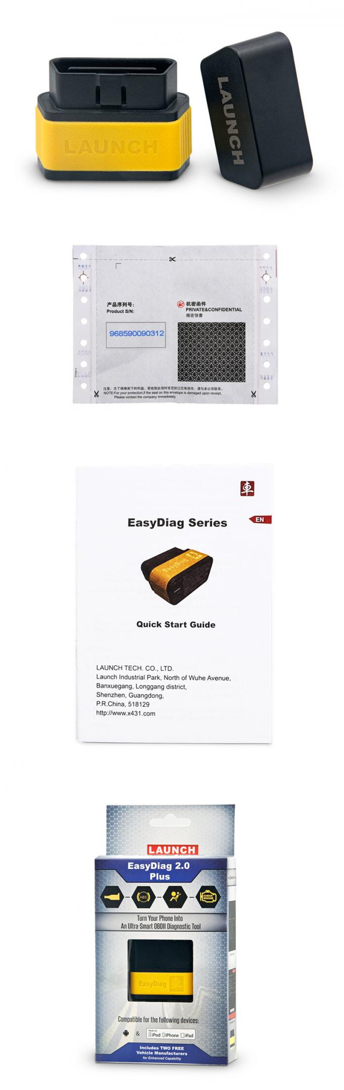 X431 EasyDiag 2.0 LAUNCH EasyDiag 2.0 Plus Obd2 Diagnostics Scanner Tool For Android/IOS X431 EasyDiag 2.0 With Blueto