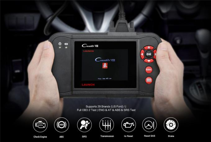 Launch X431 OBD2 Scanner Viii Vehicle Code Reader Auto Scan Tool for ENG/AT/ABS/SRS and EPB/SAS/Oil Service Light Resets