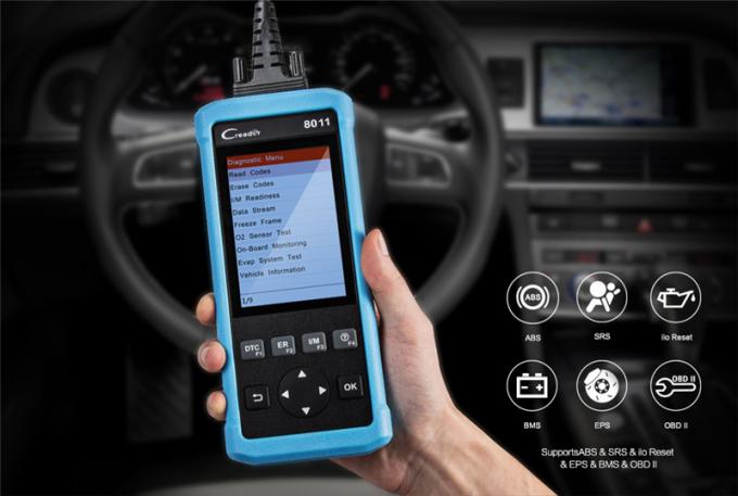 launch full obd2/eobd code reader scanner creader 8011 with battery management system (BMS)/Oil/EPB/reset support ABS SR