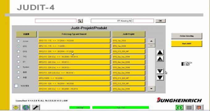 JUDIT-4 Jungheinrich Forklift Diagnostic Scanner Kit Judit Box Incado With Cables